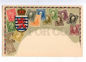 231987 LUXEMBOURG Coat of arms STAMPS Vintage Zieher postcard