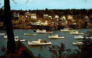 Maine Pemaquid Peninsula Harbor Scene