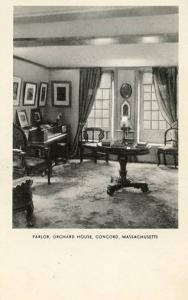 MA - Concord. Orchard House, Louisa May Alcott's Parlor