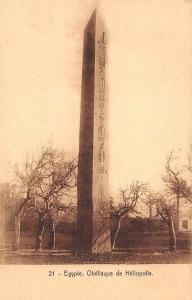 Egypt Egypte - Obelisque de Heliopolis, Monument, Postcard