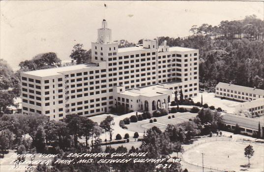 Mississippi Gulfport Aerial View Edgewater Gulf Hotel 1946 Real Photo