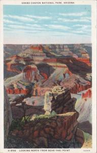 Arizona Grand Canyon Looking North From Near Yaki Point Fred Harvey