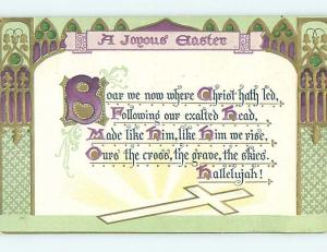 Divided-Back Easter GREETING WITH JESUS CROSS o5569