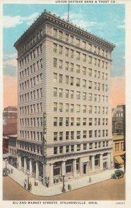 STEUBENVILLE, Ohio, 1910s; Union Savings Bank & Trust Co., 4th and Market Str...