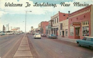 Automobiles Highway town Lordsburg New Mexico Schaaf #662 Postcard 21-2613