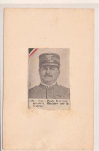 General Paolo Marrone senatore Ministro per la Guerra Italia Italy WW1