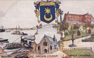 PORTSMOUTH, Hampshire, England, United Kingdom; Harbour, Garrison Church & Ca...