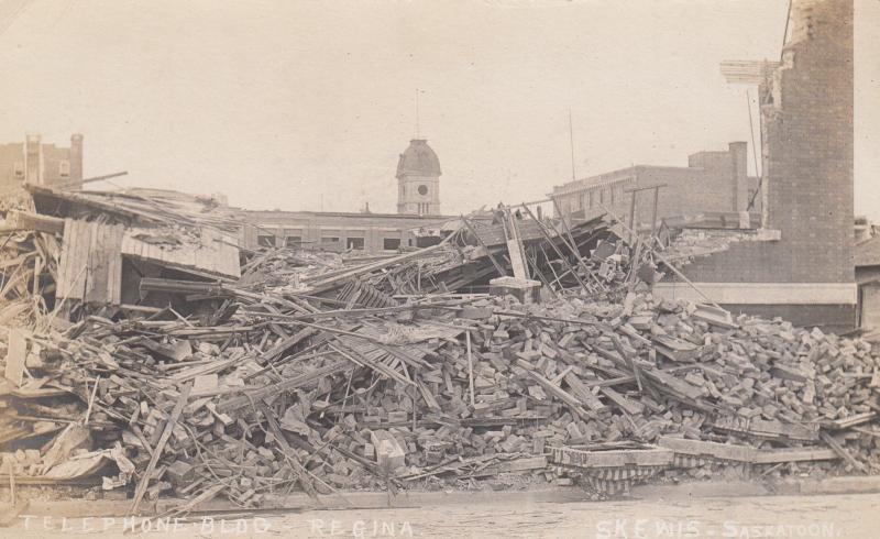 RP: Cyclone Damage , REGINA , Saskatchewan, Canada , 1912 ; Telephone bldg
