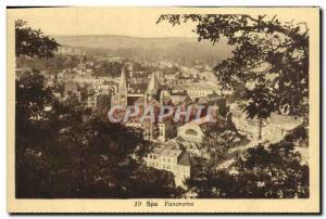 Old Postcard Panorama Spa