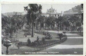 Devon Postcard - Princess Gardens - Torquay - Ref TZ5892