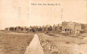 Fort Slocum New York Officer Line Coastline Scene Antique Postcard K11613