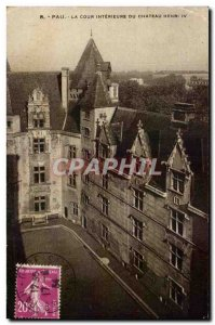 Old Postcard Pau The Inner Court of Chateau Henry IV