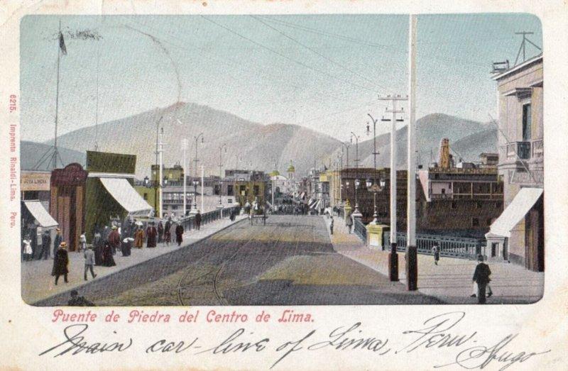 Lima , Peru , 1907 ; Puente de Piedra del Centro