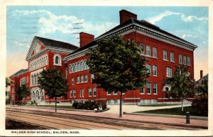Massachusetts Malden High School 1921 Curteich