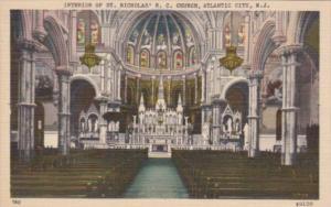 New Jersey Atlantic City St Nicholas Roman Catholic Church Interior