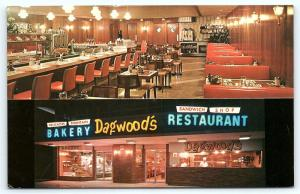 Postcard FL Miami Beach Dagwoods Restaurant Shop Bakery Interior R16