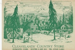 PLYMOUTH , Connecticut, 1950-60s; Cleaveland's Country Store