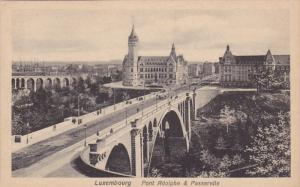 LUXEMBOURG, 1900-1910's; Pont Adolphe & Passerelle