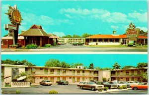 Statesboro, Georgia Postcard QUALITY INN Downtown / Highway 301 Roadside c1960s