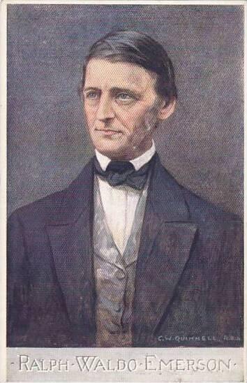Ralph Waldo Emerson Tuck Oilette Men Of Letters Series