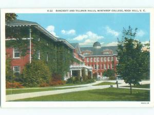 Linen BANCROFT AND TILLMAN HALL AT WINTHROP COLLEGE Rock Hill SC Q3293