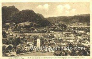 Blick auf Saalach und Saalachbrucke Bad Reichenhall Germany 1915