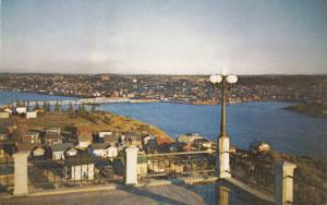 Aerial View, Bridge, CHICOUTIMI, Quebec, Canada, 40-60´s