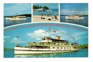 Greetings, Charter Boat, Beach, Sophie C, Lake Winnipesaukee, New Hampshire