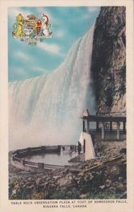 Canada Niagara Falls Table Rock Observation Plaza At Foot Of Horseshoe Falls ...
