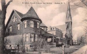 St John's Church, Convent & Rectory Goshen, New York Postcard