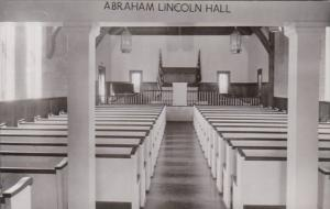 Indiana Lincoln City Abraham Lincoln Hall Real Photo