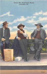 19823 PA, Lancaster, Amish men homeward bound