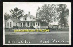 2095 - AYER'S CLIFF Quebec 1946 Birchdale Inn. Real Photo Postcard