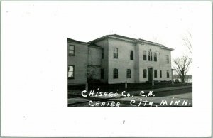 Center City, Minnesota RPPC Real Photo Postcard CHISAGO COUNTY COURT HOUSE