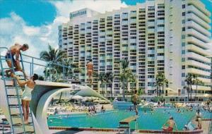 Oceanfront Bal Harbour Hotel With Pool Miami Beach Florida 1958