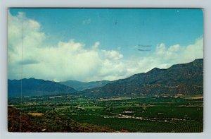 Ojai Valley CA-California, Aerial View, Chrome Postcard