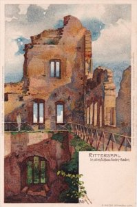 BADEN-BADEN, Baden-Wurttenberg, Germany; Rittersaal im alten Schloss, 1910-20s