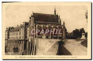 Postcard Old Thouars La Chapelle and the Castle Cave of the Dukes of Tremoille
