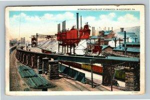 McKeesport PA-Pennsylvania, Monongahela Blast Furnaces, Vintage Postcard