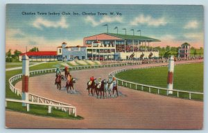 Postcard WV Charles Town The Charles Town Jockey Club Inc Horse Race Track K19