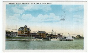 Oak Bluffs, Mass, Wesley House From The Pier