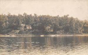 White Lake Michigan~Lockwoods Camping Ground Cottages~Not Fell in Lake~1908 RPPC