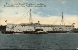 Annapolis MD Spanish Warship Reina Mercedes Naval Academy c1910 Postcard