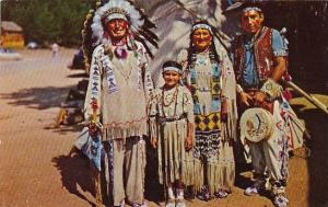 Indian Chief Running Horse And Family San Francisco California