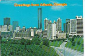 Greetings From Atlanta Georgia Showing Skyline