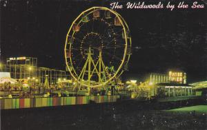 WILDWOODS BY THE SEA, New Jersey, 1972; Ferris wheel at night