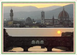 Italy Firenze Bridge Sunset Pont Church Eglise Panorama