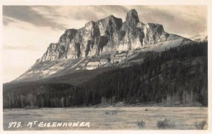Mount Eisenhower, Alberta, Canada, Early Real Photo Postcard, Unused
