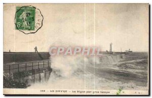 Old Postcard Le Havre wholesale Digue Time