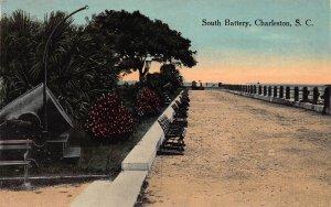 South Battery, Charleston, South Carolina, Early Postcard, Unused